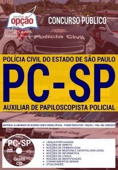 Apostila Concurso AUXILIAR DE PAPILOSCOPISTA POLÍCIA CIVIL - SP.  - Apostilas Objetiva
