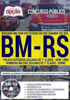 Apostila Concurso BRIGADA MILITAR RS - ( Editora Opção )  - Apostilas Objetiva