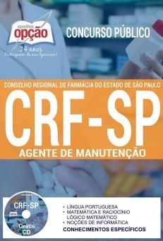 Apostila Concurso CRF-SP | AGENTE DE MANUTENÇÃO.  - Apostilas Objetiva