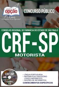 Apostila Concurso CRF-SP | MOTORISTA - (Editora Opção)  - Apostilas Objetiva