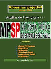 Apostila Concurso (em PDF) AUXILIAR DE PROMOTORIA - I - Ministério Público SP 2019   - Apostilas Objetiva