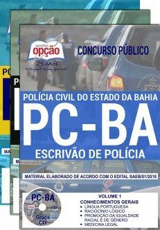 Apostila Concurso ESCRIVÃO DE POLÍCIA CIVIL - BA.  - Apostilas Objetiva