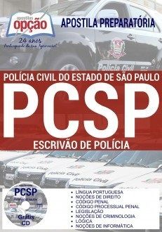 Apostila Impressa-Concurso ESCRIVÃO DE POLÍCIA CIVIL - SP.-1.8  - Apostilas Objetiva