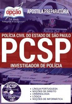 Apostila-Impressa - Concurso INVESTIGADOR POLÍCIA CIVIL - SP.1.8  - Apostilas Objetiva