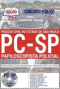 Apostila Concurso PAPILOSCOPISTA POLÍCIA CIVIL - SP - VERSÃO IMPRESSA  - Apostilas Objetiva