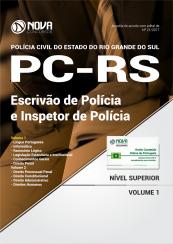 Apostila Concurso PC-RS - Escrivão de Polícia e Inspetor de Polícia ( Editora Nova )  - Apostilas Objetiva