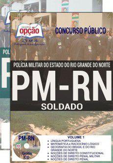 APOSTILA - CONCURSO PM-RIO G NORTE-1.8 - SOLDADO  - Apostilas Objetiva