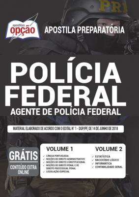 APOSTILA CONCURSO POLÍCIA FEDERAL - AGENTE - IMPRESSA  - Apostilas Objetiva