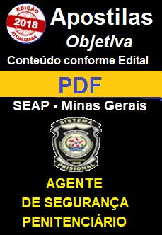 Apostila Concurso SEAP-MG-AGENTE DE SEGURANÇA PENITENCIÁRIA -1.8  - Apostilas Objetiva