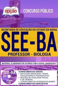Apostila Concurso SEE - BA - Professor - Biologia ( Editora Opção )  - Apostilas Objetiva