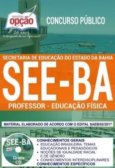 Apostila Concurso SEE - BA - Professor - Educação Física ( Editora Opção )  - Apostilas Objetiva