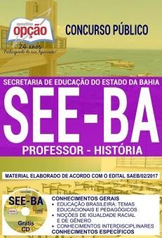 Apostila Concurso SEE - BA - Professor - História ( Editora Opção )  - Apostilas Objetiva