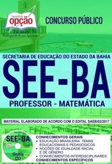 Apostila Concurso SEE - BA - Professor - Matemática ( Editora Opção )  - Apostilas Objetiva