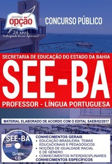 Apostila Concurso SEE - BA - Professor - Lingua Portuguesa ( Editora Opção )  - Apostilas Objetiva