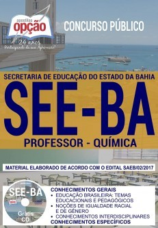 Apostila Concurso SEE - BA - Professor - Química ( Editora Opção )  - Apostilas Objetiva