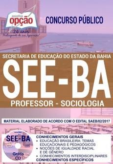 Apostila Concurso SEE - BA - Professor - Sociologia ( Editora Opção )  - Apostilas Objetiva