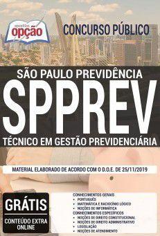 Apostila Concurso SPPREV-SP - 2019 - Técnico em Gestão Previdenciária  - Apostilas Objetiva