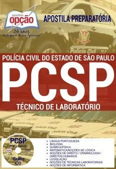 Apostila Concurso TÉCNICO DE LABORATÓRIO POLÍCIA CIVIL - SP.  - Apostilas Objetiva
