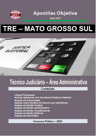 Apostila-Concurso-TRE-MATO GROSSO SUL-2021-em-PDF-Técnico-Jud.-Administrativa  - Apostilas Objetiva
