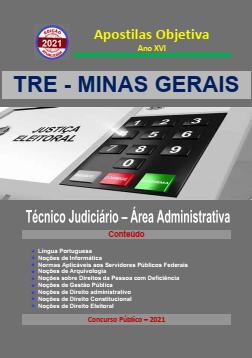 Apostila-Concurso-TRE-MINAS GERAIS-2021-em-PDF-Técnico-Jud.-Administrativa  - Apostilas Objetiva