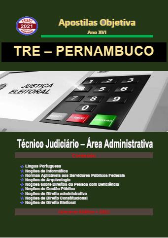 Apostila-Concurso-TRE-PERNAMBUCO-2021-em-PDF-Técnico-Judi.-Administrativa  - Apostilas Objetiva