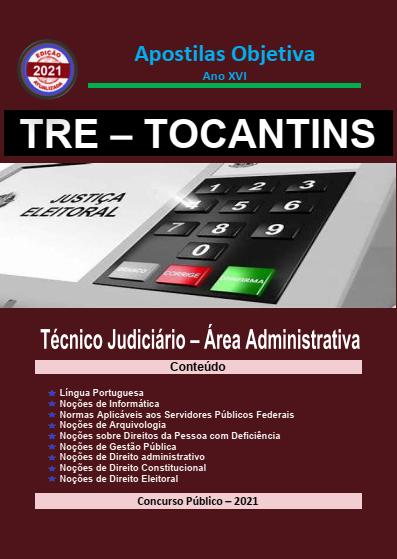 Apostila-Concurso-TRE-TOCANTINS-2021-em-PDF-Técnico-Judiciário-Administrativa  - Apostilas Objetiva