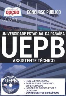 APOSTILA CONCURSO UNIVERSIDADE ESTADUAL PARAIBA - UEPB (2017)  - Apostilas Objetiva