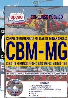 Apostila CURSO DE FORMAÇÃO DE OFICIAIS (CFO)-MINAS GERAIS .  - Apostilas Objetiva