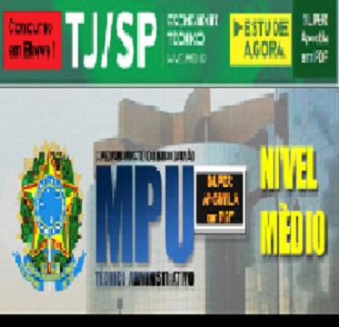 Apostila do Concurso MPU - 2018 (em PDF)  - Apostilas Objetiva