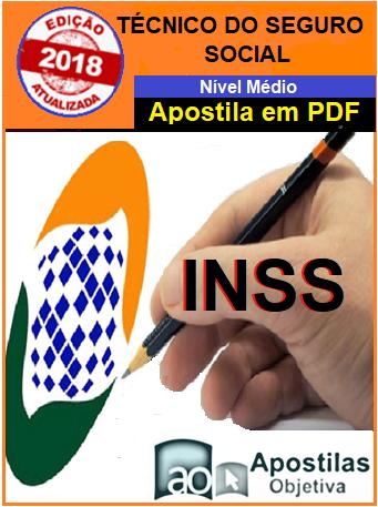 Apostila (em PDF)-Concurso INSS -Técnico do Seguro Social-2018/19   - Apostilas Objetiva