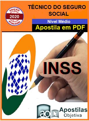 INSS -Técnico do Seguro Social-Apostila (em PDF)-Concurso-2020-2021  - Apostilas Objetiva