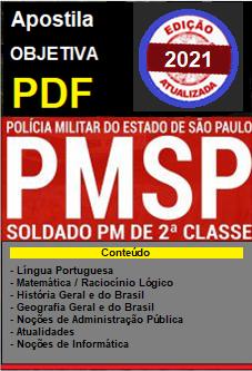 APOSTILA em PDF - CONCURSO SOLDADO DA PM - São Paulo-2.1  - Apostilas Objetiva