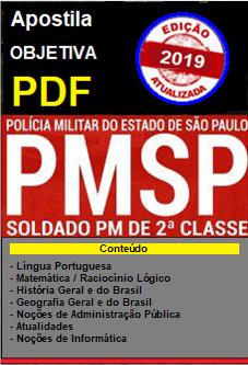 APOSTILA em PDF - CONCURSO SOLDADO DA PM São Paulo-1.9-1  - Apostilas Objetiva