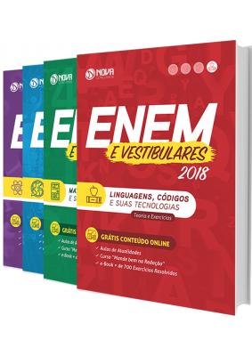 Apostila ENEM - EXAME NACIONAL DE ENSINO MÉDIO - ENEM (4 Volumes)   - Apostilas Objetiva