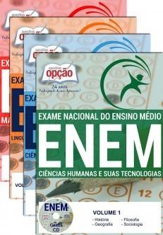 Apostila ENEM - EXAME NACIONAL DE ENSINO MÉDIO - ENEM (2 Volumes)   - Apostilas Objetiva