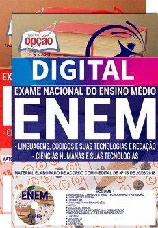 Apostila ENEM - EXAME NACIONAL DE ENSINO MÉDIO - ENEM (DIGITAL)   - Apostilas Objetiva