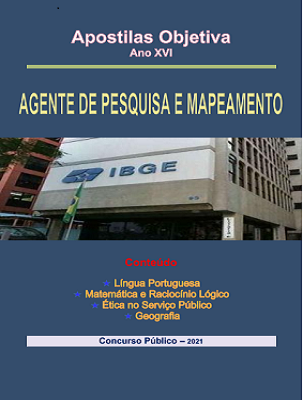 Apostila IBGE-2021 em PDF-Agente-de-Pesquisas-e-Mapeamento  - Apostilas Objetiva