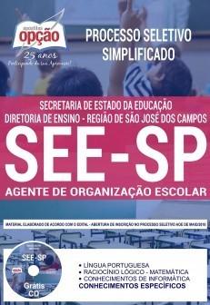 Apostila -Impressa-Concurso AGENTE DE ORGANIZAÇÃO ESCOLAR - SEE-SP.1.8  - Apostilas Objetiva