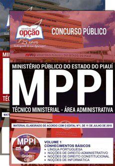 APOSTILA IMPRESSA e DIGITAL - CONCURSO MP - PIAUI -Técnico Ministerial-1.8  - Apostilas Objetiva