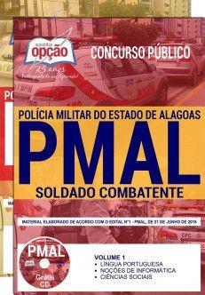 APOSTILA IMPRESSA - CONCURSO PM-ALAGOAS-1,8 - SOLDADO COMBATENTE  - Apostilas Objetiva