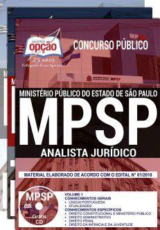 APOSTILA IMPRESSA e DIGITAL - CONCURSO MP - SP -ANALISTA JURÍDICO-1.8  - Apostilas Objetiva