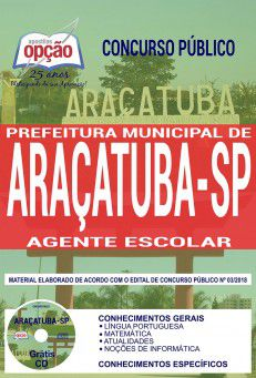 ARAÇATUBA - SP - PREFEITURA MUNICIPAL-1.8 - Diversos Cargos  - Apostilas Objetiva