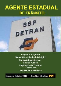Concurso AGENTE DE TRÂNSITO - DETRAN/SP - 2021 - Apostila em PDF  - Apostilas Objetiva