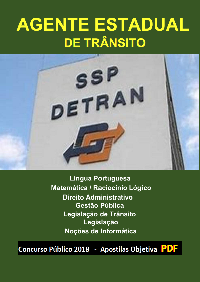 Concurso AGENTE DE TRÂNSITO - DETRAN/SP - 2019 - Apostila (PDF)   - Apostilas Objetiva