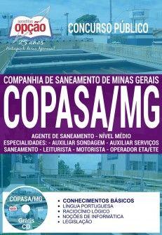 Concurso COPASA 2018 | AGENTE DE SANEAMENTO - MÉDIO - IMPRESSA  - Apostilas Objetiva