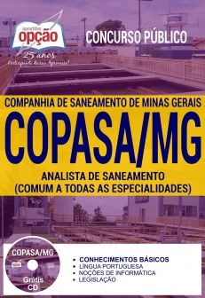 Concurso COPASA 2018 | ANALISTA DE SANEAMENTO (COMUM A TODAS AS ESPECIALIDADES) - IMPRESSA  - Apostilas Objetiva