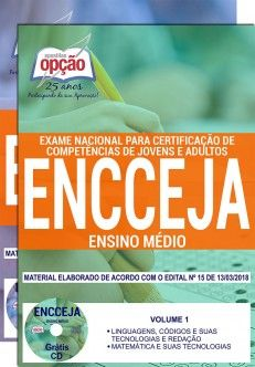Concurso ENCCEJA  2018 - IMPRESSA  - Apostilas Objetiva
