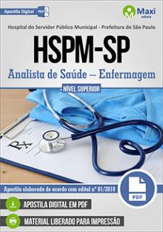 CONCURSO HOSPITAL SERVIDOR PÚBLICO MUNICIPAL |  ANALISTA DE SAÚDE - ENFERMAGEM  - VERSÃO DIGITAL  - Apostilas Objetiva