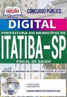 Concurso Município de Itatiba 2018 |  FISCAL DE SAÚDE - VERSÃO DIGITAL  - Apostilas Objetiva
