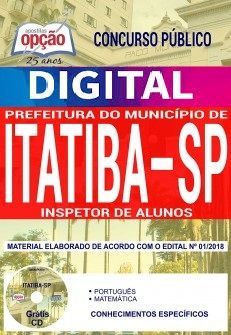 Concurso Município de Itatiba 2018 |  INSPETOR DE ALUNOS - VERSÃO DIGITAL  - Apostilas Objetiva